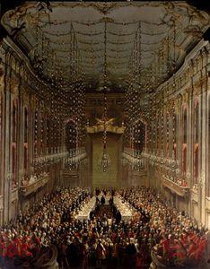 Banquet In The Redoutensaal, Vienna,