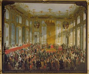 Empress Maria Theresa At The Investiture