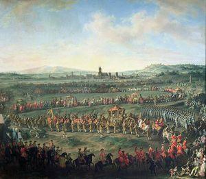 The Entrance Of Emperor Francis I Into Frankfurt,