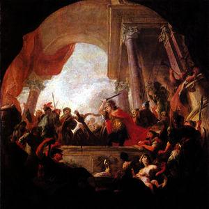Alexander Cutting The Gordian Knot