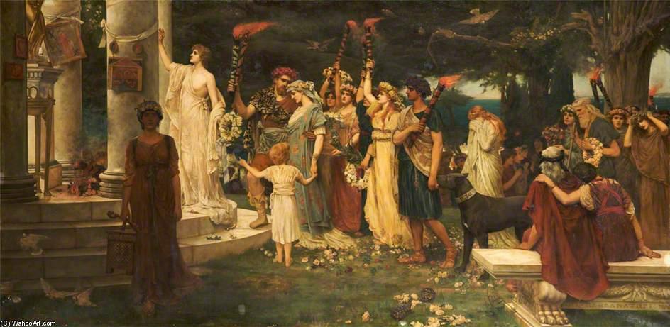 Wikioo.org - The Encyclopedia of Fine Arts - Painting, Artwork by Herbert Gustav Schmalz - The Temple Of Eros