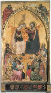 The Coronation Of The Virgin With Saints And Prophets