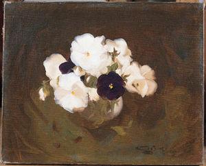 White And Purple Violas