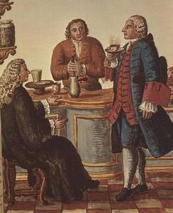 veneciano Nobles dicho un café