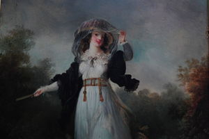 Jeune Femme Dans Un Paysage