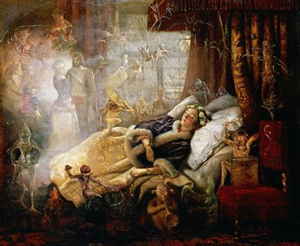 WikiOO.org - 백과 사전 - 회화, 삽화 John Anster Fitzgerald - The Stuff That Dreams Are Made Of
