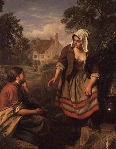 At The Spring Or Gossip