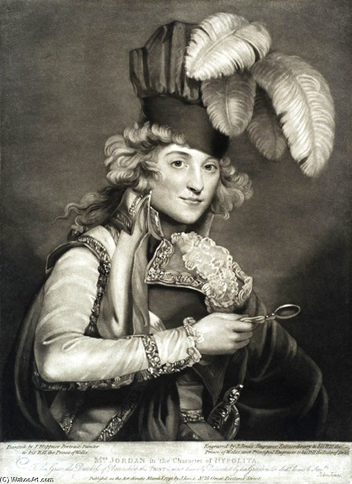 Wikioo.org - The Encyclopedia of Fine Arts - Painting, Artwork by John Paul Jones - Mrs. Jordan In The Character Of Hypolita