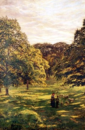 Wikioo.org - The Encyclopedia of Fine Arts - Painting, Artwork by John William Buxton Knight - Meadow Scene