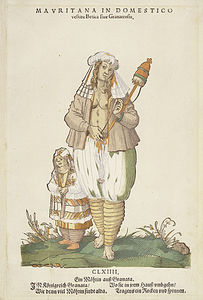 Mauritana In Domestico' From Trachtenbuch Von Nurnberg (costume Book Of Nuremberg