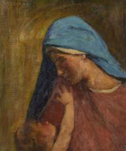 Madonna And Child - Agost Benkhard