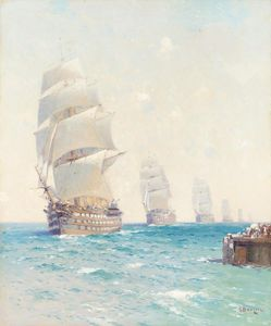 Tall Ships On The Ocean