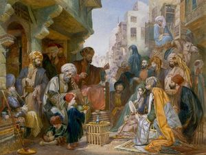 Turkish Street Scene - Amadeo Preziosi