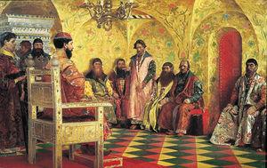 Tsar Mikhail Pada Sesi Boyar Duma