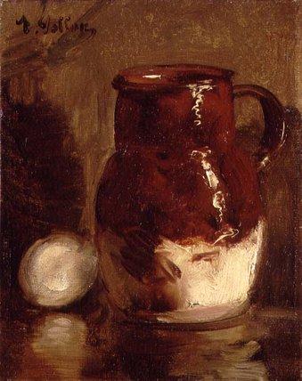 WikiOO.org - Encyclopedia of Fine Arts - Maleri, Artwork Antoine Vollon - Stoneware Jug And Egg