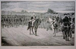 Lord Cornwallis Surrenders To George Washington