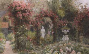 A Statue In A Romantic Garden