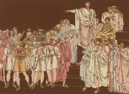 Wikioo.org – La Enciclopedia de las Bellas Artes - Pintura, Obras de arte de Bartolomeo Pinelli - Brutus Condenando a sus hijos a la muerte