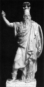 The God Wotan (odin) In A Plumed Helmet