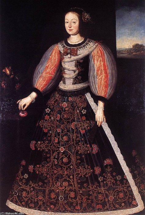 Wikioo.org - The Encyclopedia of Fine Arts - Painting, Artwork by Benjamin Block - Portrait Of Princess Anna Julianna Eszterházy