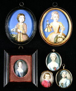 Miniaturas Retrato. L a R y T a B