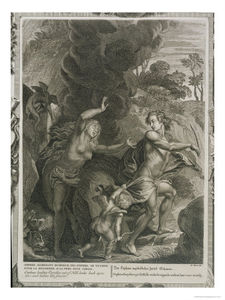 Picart Orpheus Leading Eurydice Out Of Hell Looks Back Upon Her And Loses Her Forever