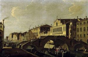 Venecia, Cannaregio Con El Ponte Tre Archi Y Palazzo Valier