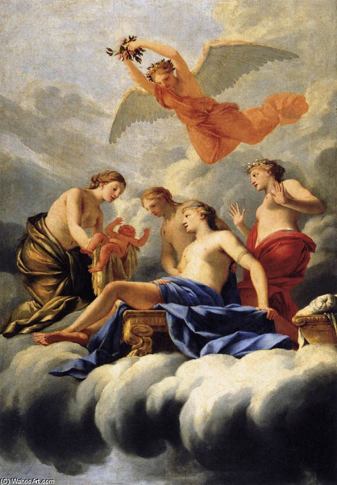 Wikioo.org - The Encyclopedia of Fine Arts - Painting, Artwork by Brother Lesueur (Eustache Le Sueur) - The Birth Of Cupid