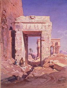 Umbral De Temple Of Isis Para Templo Cama Llamado