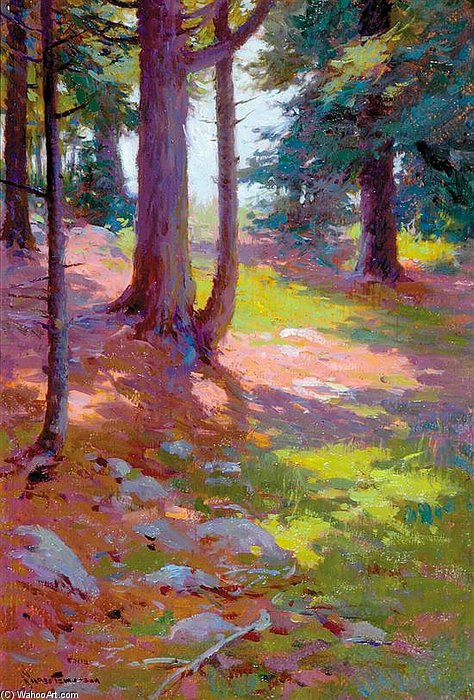 Wikioo.org - The Encyclopedia of Fine Arts - Painting, Artwork by Charles Chase Emerson - Dappled Sunlight