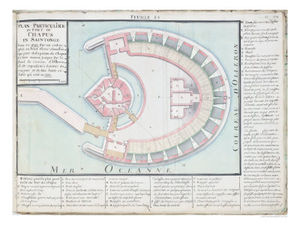 Masse Plan Of The Chapus Fort From Traite De Fortifications