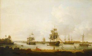 Ships Off The Gun Wharf At Portsmouth