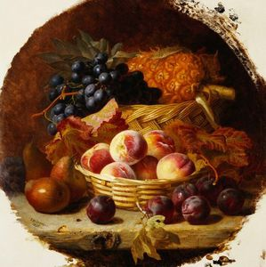 Peaches, Plums, Pears And Pineapple