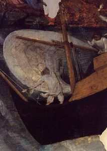 A Boat Against A Reef, From The Altarpiece Of St. Bernard Of Clairvaux