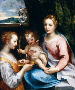 Madonna And Child With St Lucy