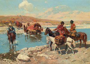 Cherkesses Crossing A River