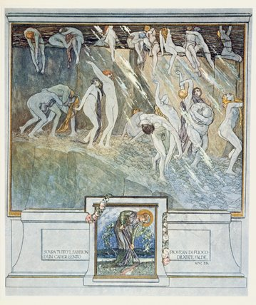"WikiOO.org – 美術百科全書 - 繪畫,作品 Franz Von Bayros - 但丁的""神曲(11)"