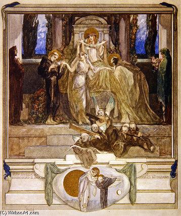 "WikiOO.org – 美術百科全書 - 繪畫,作品 Franz Von Bayros - 但丁的""神曲(16)"