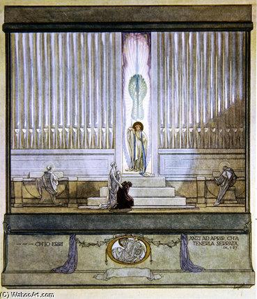 "WikiOO.org – 美術百科全書 - 繪畫,作品 Franz Von Bayros - 但丁的""神曲(19)"
