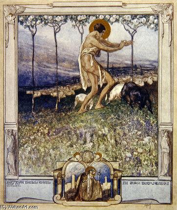 "WikiOO.org – 美術百科全書 - 繪畫,作品 Franz Von Bayros - 但丁的""神曲(24)"