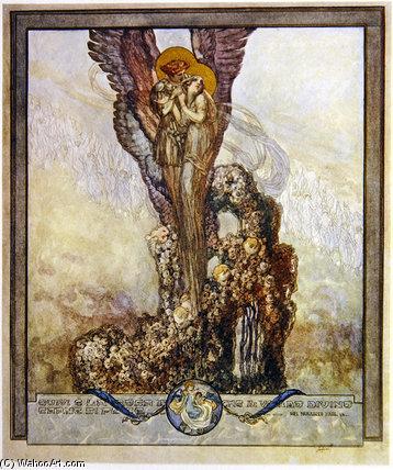 "WikiOO.org – 美術百科全書 - 繪畫,作品 Franz Von Bayros - 但丁的""神曲(30)"