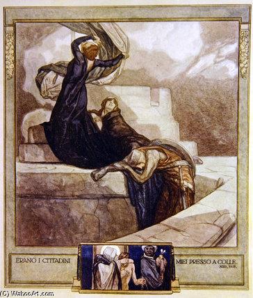 "WikiOO.org – 美術百科全書 - 繪畫,作品 Franz Von Bayros - 但丁的""神曲 -"