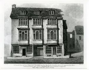 A South View Of The Falcon Tavern, On The Bankside