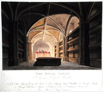 Wikioo.org - The Encyclopedia of Fine Arts - Painting, Artwork by Frederick Nash - The Royal Vault, St. George's Chapel, Windsor