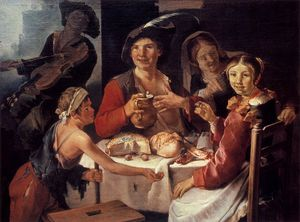Peasant Repast With A Young Beggar