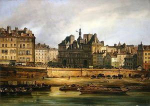 Hotel De Ville And Embankment, Paris,