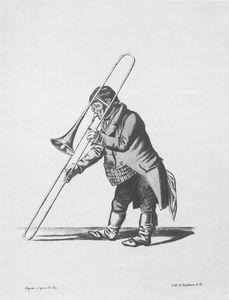 Caricature Of A Trombone Player