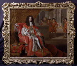 Charles Ii At Court (oil On Canvas)