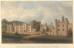 South East View Of Blithfield, Staffordshire, The Seat Of The Right Honourable Lord Bagot