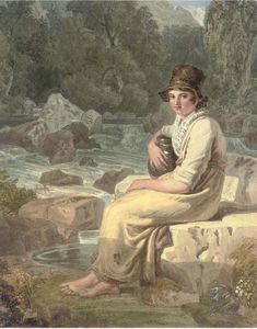 A Welsh Peasant Girl, Dolgelly, Merionethshire